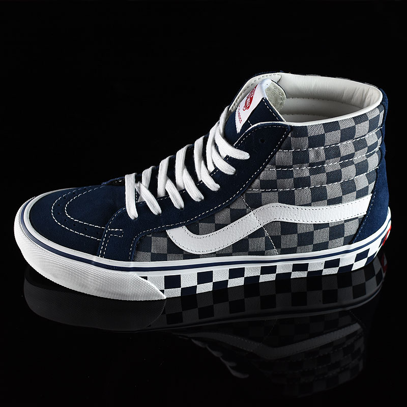 '83 Navy Checkered Shoes Sk8-Hi Pro Shoes in Stock Now