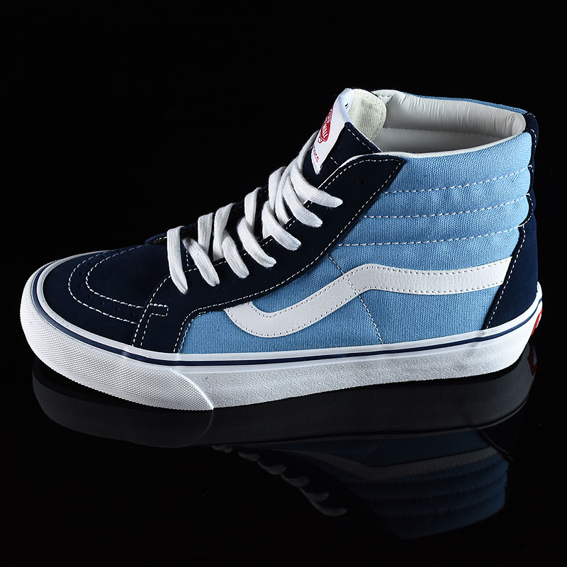 '86 Navy Two Tone Shoes Sk8-Hi Pro Shoes in Stock Now