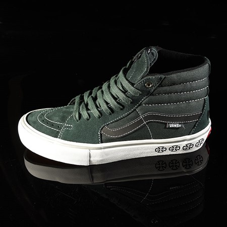 Size 11 in Vans Sk8-Hi Pro Shoes, Color: Independent, Spruce