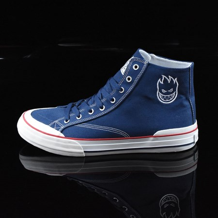 HUF Classic Hi Shoes Navy, White, Spitfire