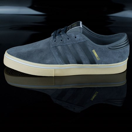 Size 9 in adidas Seeley ADV Shoes, Color: Dark Grey, Black, Gum
