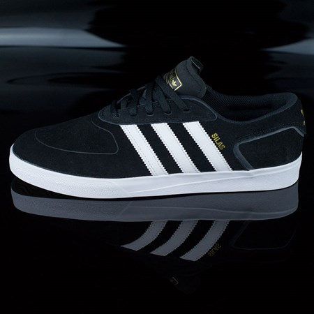 Size 11 in adidas Silas Vulc ADV Shoes, Color: Black, White
