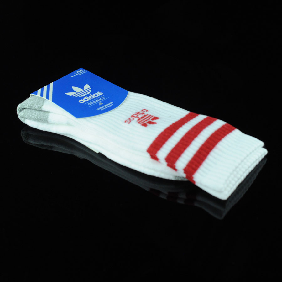 White, Scarlet Socks Originals Socks in Stock Now