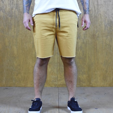 Size Medium in Brixton Madrid Shorts, Color: Gold