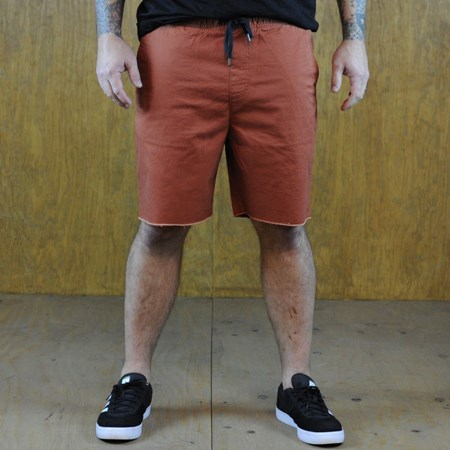 Size Medium in Brixton Madrid Shorts, Color: Burnt Orange