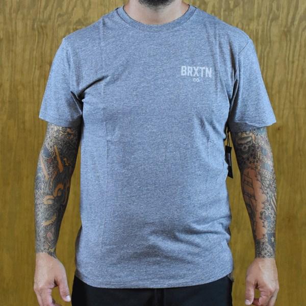Brixton Cane Premium T Shirt Heather Grey