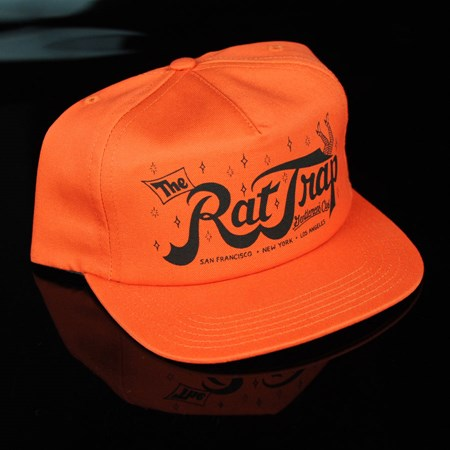 HUF Todd Francis Rat Trap Snap Back Hat Orange