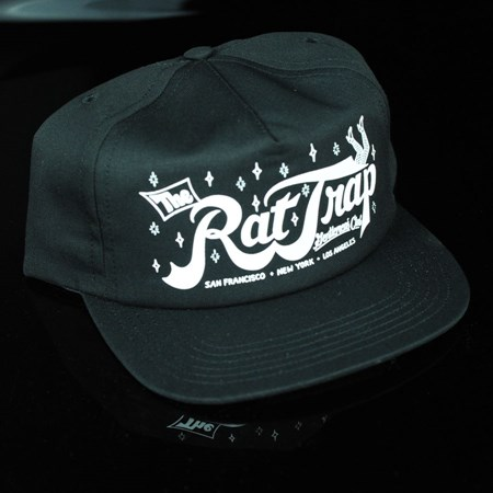 HUF Todd Francis Rat Trap Snap Back Hat Black