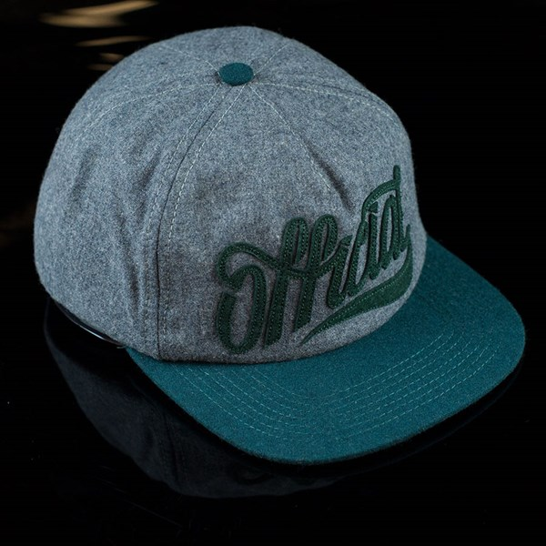 The Official Brand Knobbed Snap Back Hat Grey