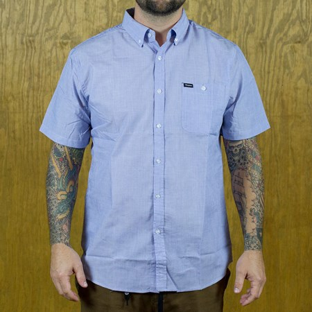 Brixton Central Button Up Shirt Heather Blue