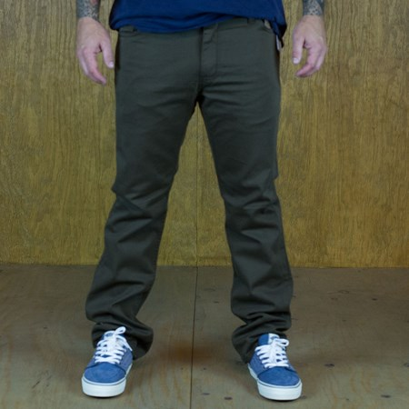 Vans V56 AV Covina Pants Chocolate in stock now.