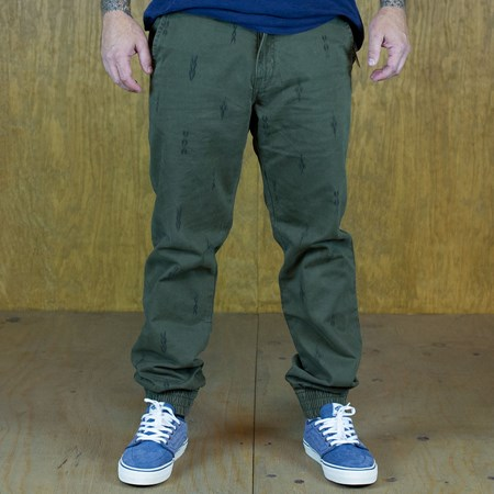 Vans Excerpt Pegged Chino Pants Forest Night Pattern