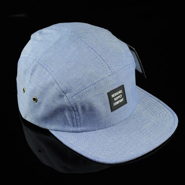 2db70c45d9c Glendale 5 Panel Strap Back Hat Chambray In Stock at The Boardr