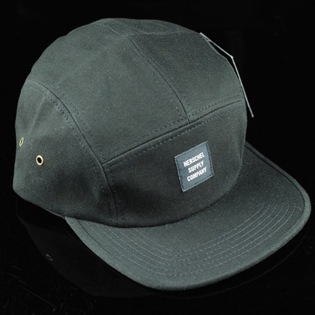 Herschel Glendale 5 Panel Strap Back Hat Black