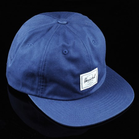 Herschel Albert Strap Back Hat Navy