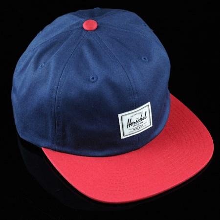 Herschel Albert Strap Back Hat Navy, Red