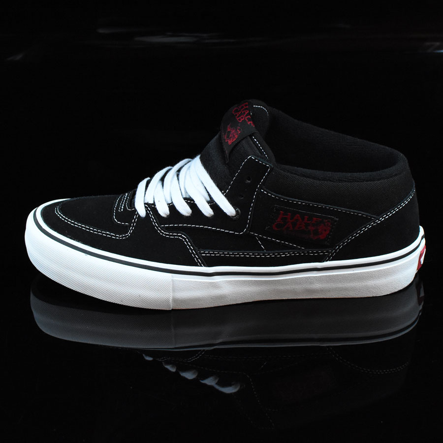 Black, White, Red Shoes Half Cab Pro Shoes in Stock Now