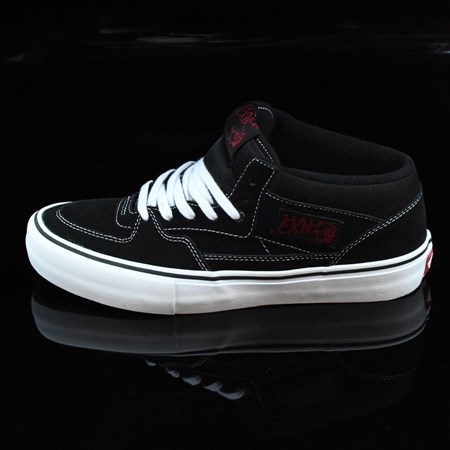 Vans Half Cab Pro Shoes Black, White, Red
