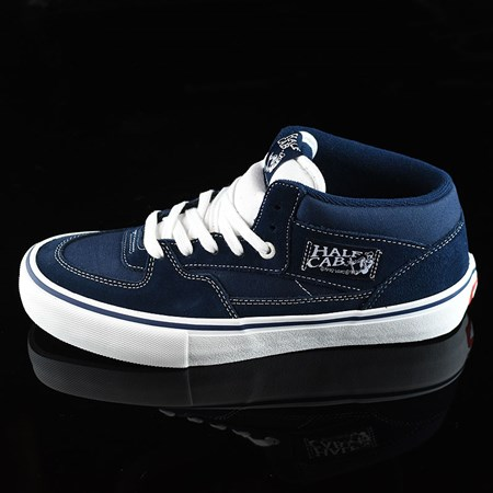 Size 8 in Vans Half Cab Pro Shoes, Color: Dress Blues