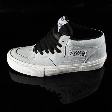 Size 10.5 in Vans Half Cab Pro Shoes, Color: Baby Blue, White