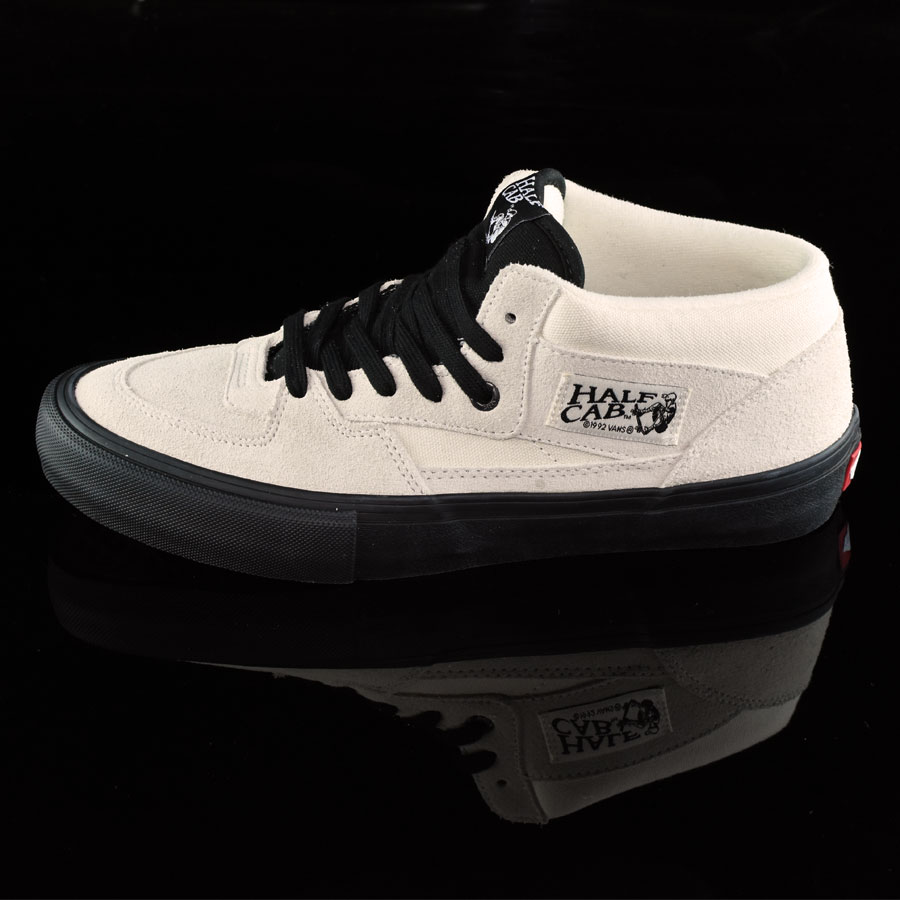 White, Black Shoes Half Cab Pro Shoes in Stock Now