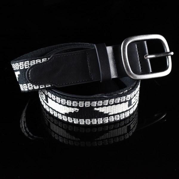 Brixton Course Belt Black, Cream