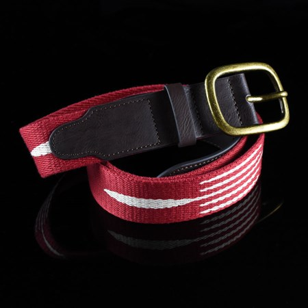 Brixton Course Belt Red, Cream