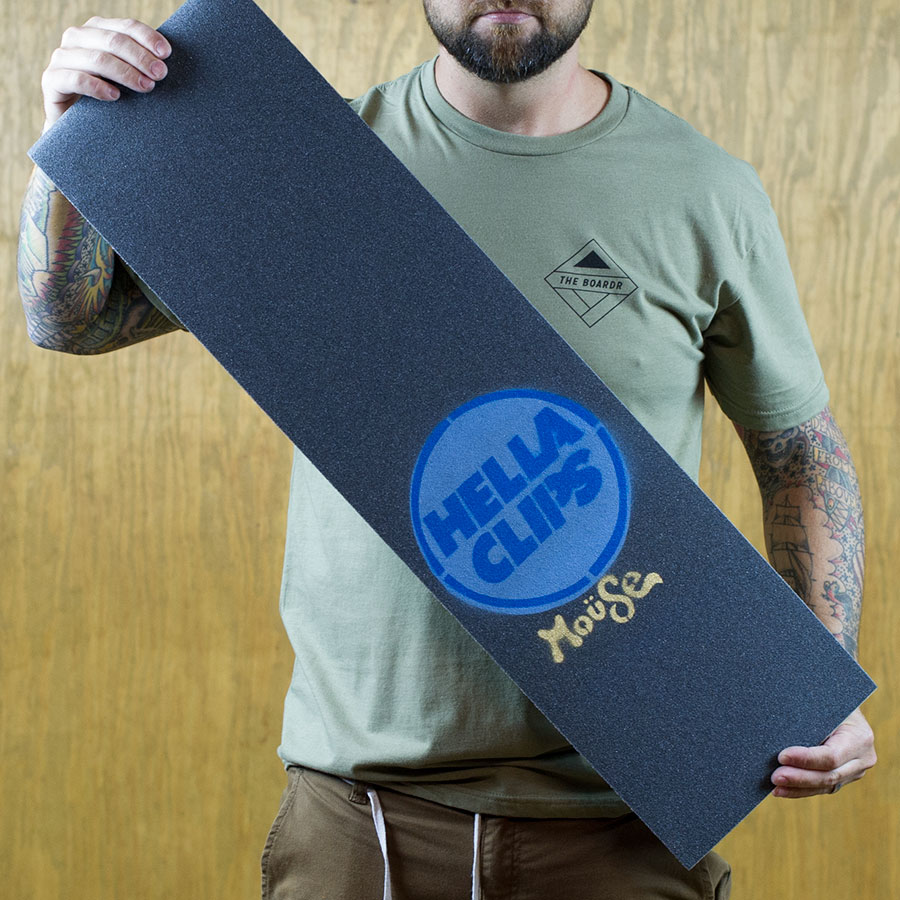 Blue Griptape Mouse x Hellaclips Limited Edition Griptape in Stock Now