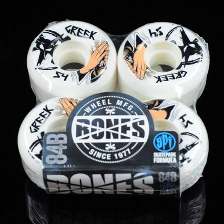 Bones Wheels Greek SPF Pray 4 Beer Wheels White in stock now.