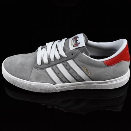 Size 9 in adidas Cliche X adidas Lucas ADV Shoes, Color: Charcoal, Solid Grey, White
