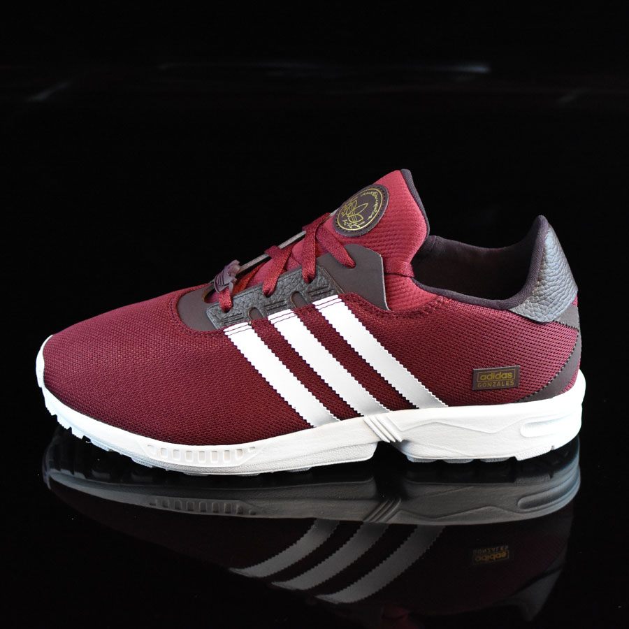 Burgundy, White Shoes ZX Gonz Shoes in Stock Now