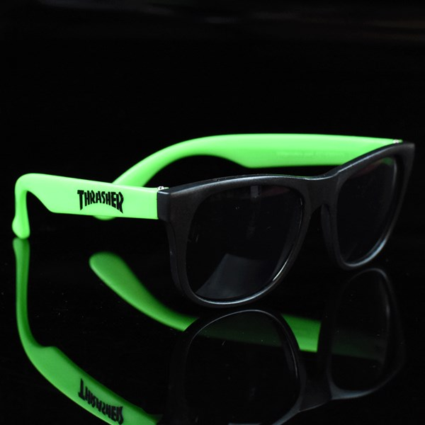 Thrasher Sunglasses  thrasher sunglasses black green in stock at the boardr