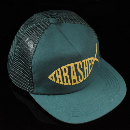 Thrasher Fish Trucker Hat Green