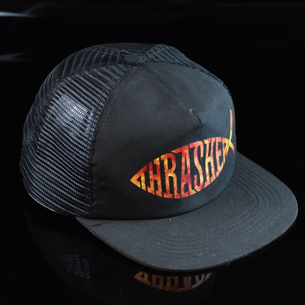 Thrasher Fish Trucker Hat Black