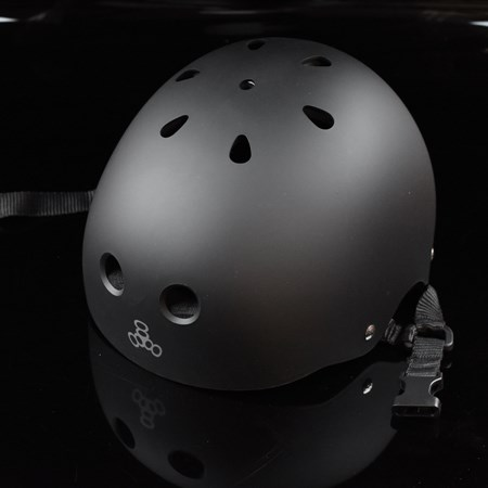 Triple 8 Brainsaver Helmet All Black Rubber