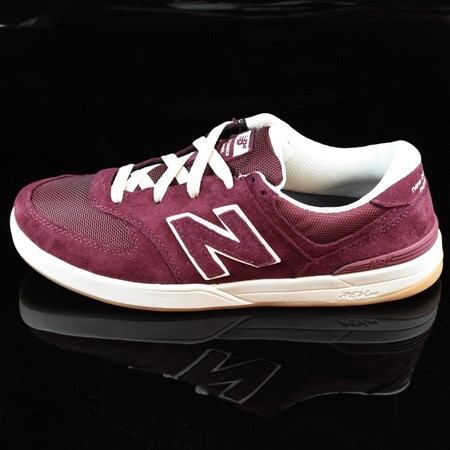 Size 10.5 in NB# Logan-S 636 Shoes, Color: Maroon, Cream