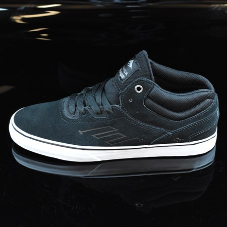 Size 8 in Emerica The Westgate Mid Vulc Shoes, Color: Black, White