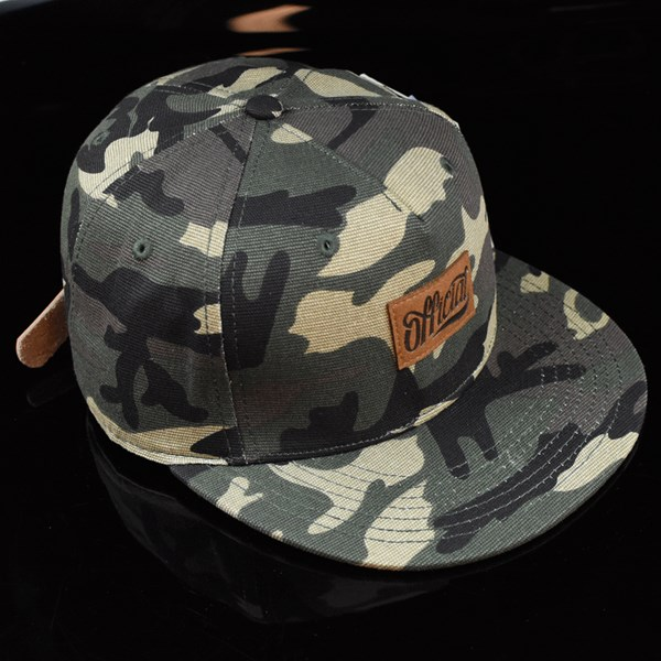 The Official Brand Jose Rojo Woodland Strap Back Hat Camo