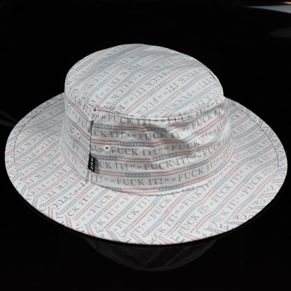 HUF F--k It Push Thru Jungle Hat White