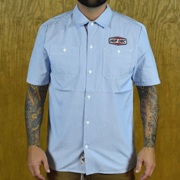 HUF Gas Station Button Up Shirt Blue