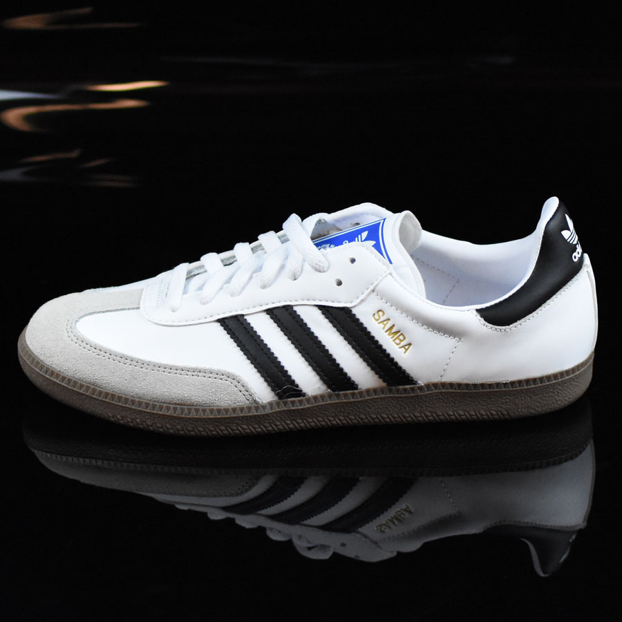 White, Black, Gum Shoes Samba Shoes in Stock Now