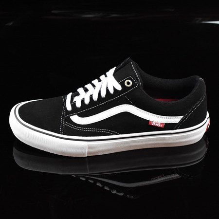 Size 8 in Vans Old Skool Pro Shoes, Color: Black, White, Red