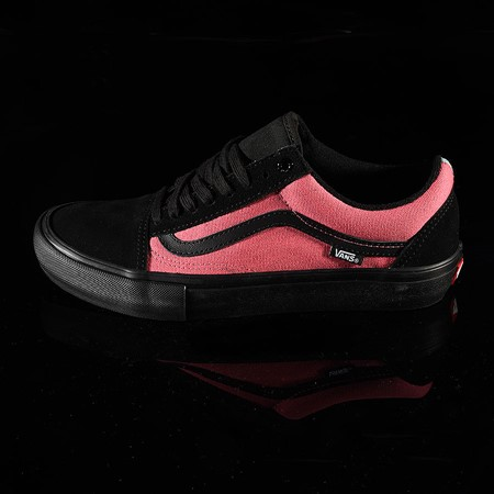 Size 11 in Vans Old Skool Pro Shoes, Color: (Asymmetry) Black, Blue, Rose