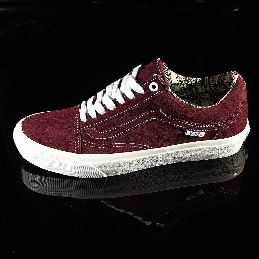 Ray Barbee, Burgundy Shoes Old Skool Pro Shoes in Stock Now