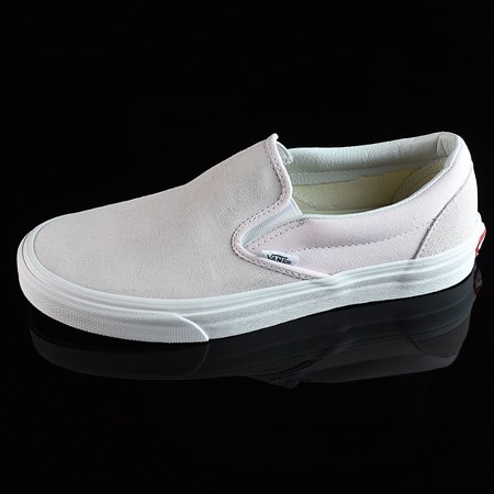 Size 11 in Vans Classic Slip On Shoes, Color: Orchard Ice, White