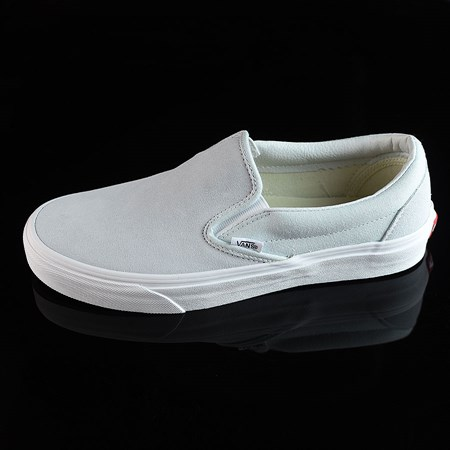 Size 8 in Vans Classic Slip On Shoes, Color: Illusion Blue, White