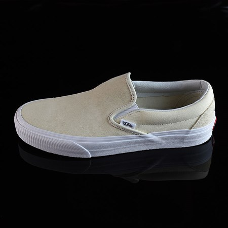 Size 10.5 in Vans Classic Slip On Shoes, Color: Afterglow, White