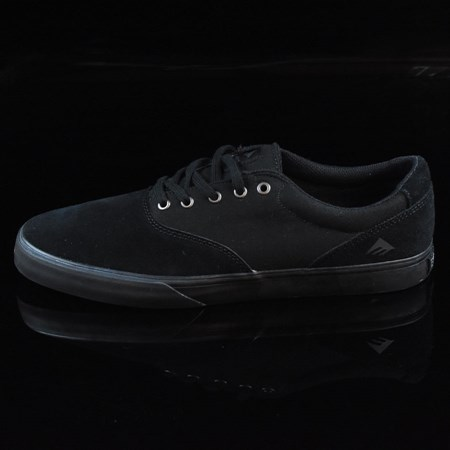 Size 11 in Emerica Provost Slim Vulc Shoes, Color: Black, Black