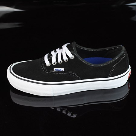 Size 13 in Vans Authentic Pro Shoes, Color: Black Suede, White