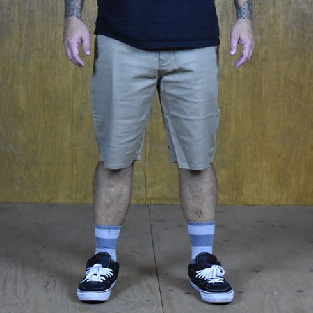 Volcom Frickin Modern Stretch Shorts Khaki in stock now.